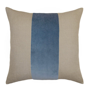 LUCKY STREAK PILLOW - BLUE VELVET + LINEN