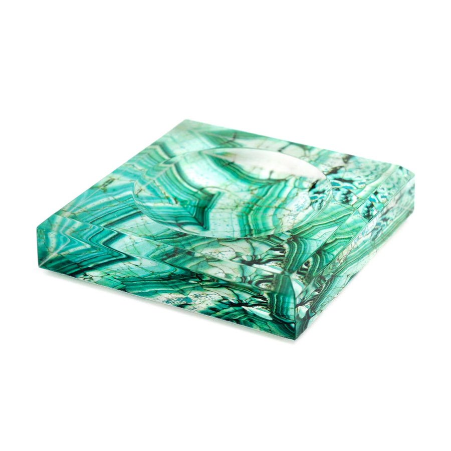 MALACHITE ACRYLIC SOAP DISH