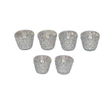 Mercury Glass Votives - set of 6