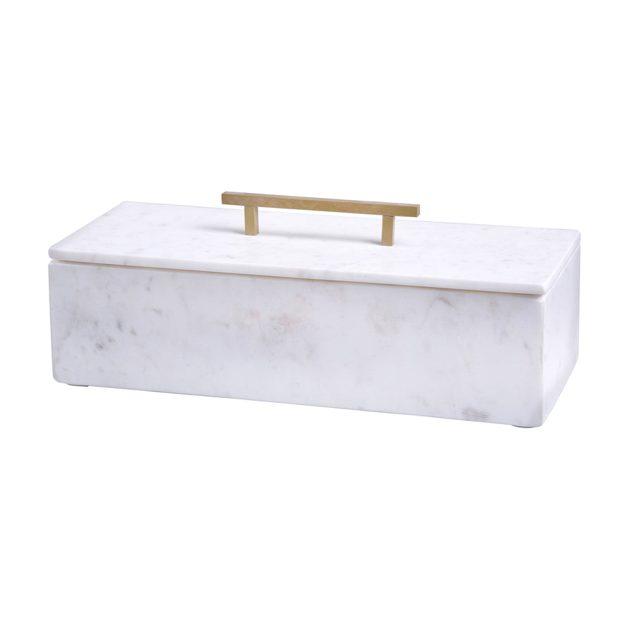 tabby home mirabelle marble box with brass handle