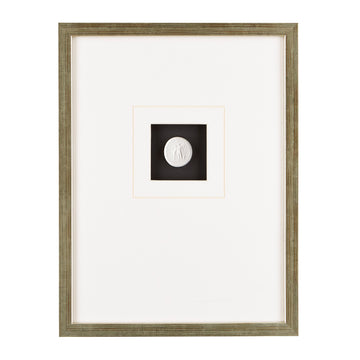 MONTEREY FRAMED INTAGLIO WITH BLACK MAT