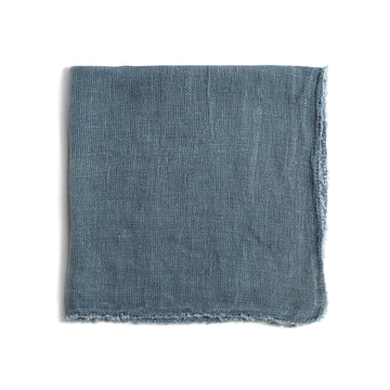 PERFECT Linen DINNER NAPKINS in DUSTY BLUE Set of 4 - TABBY HOME Pom Pom at Home Carmel