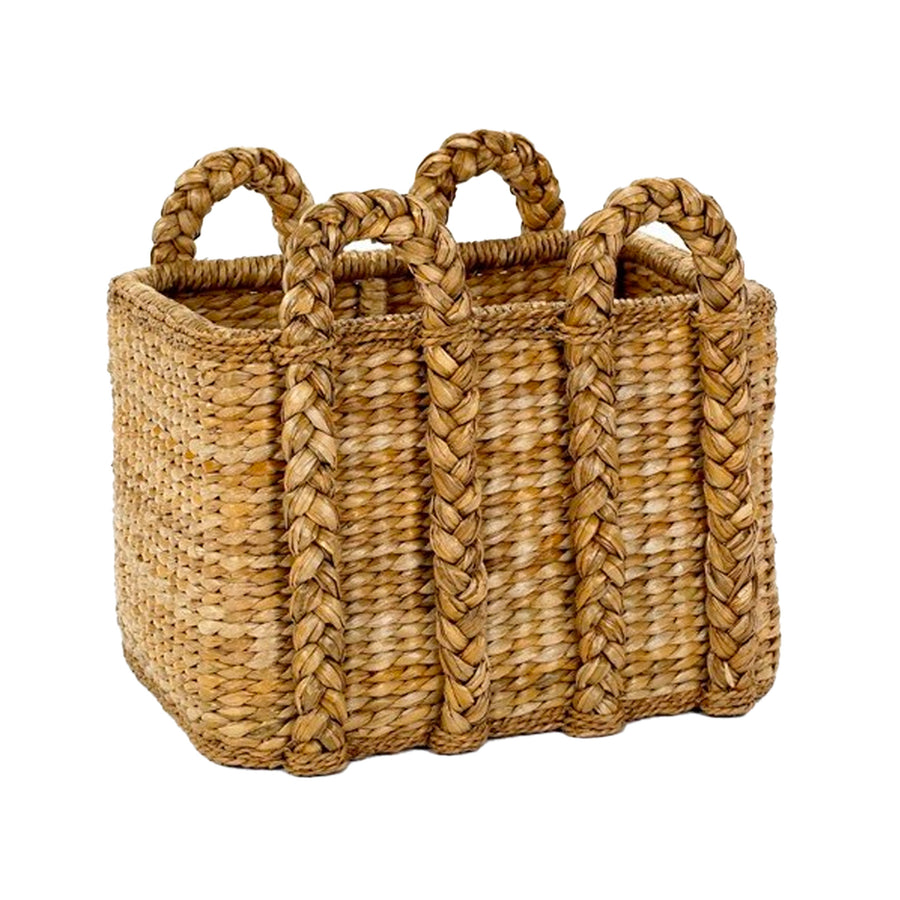 tabby home large rushs house basket for toys, blankets, logs, shoes. Mainly Baskets seagrass sweater weave large rectangular basket