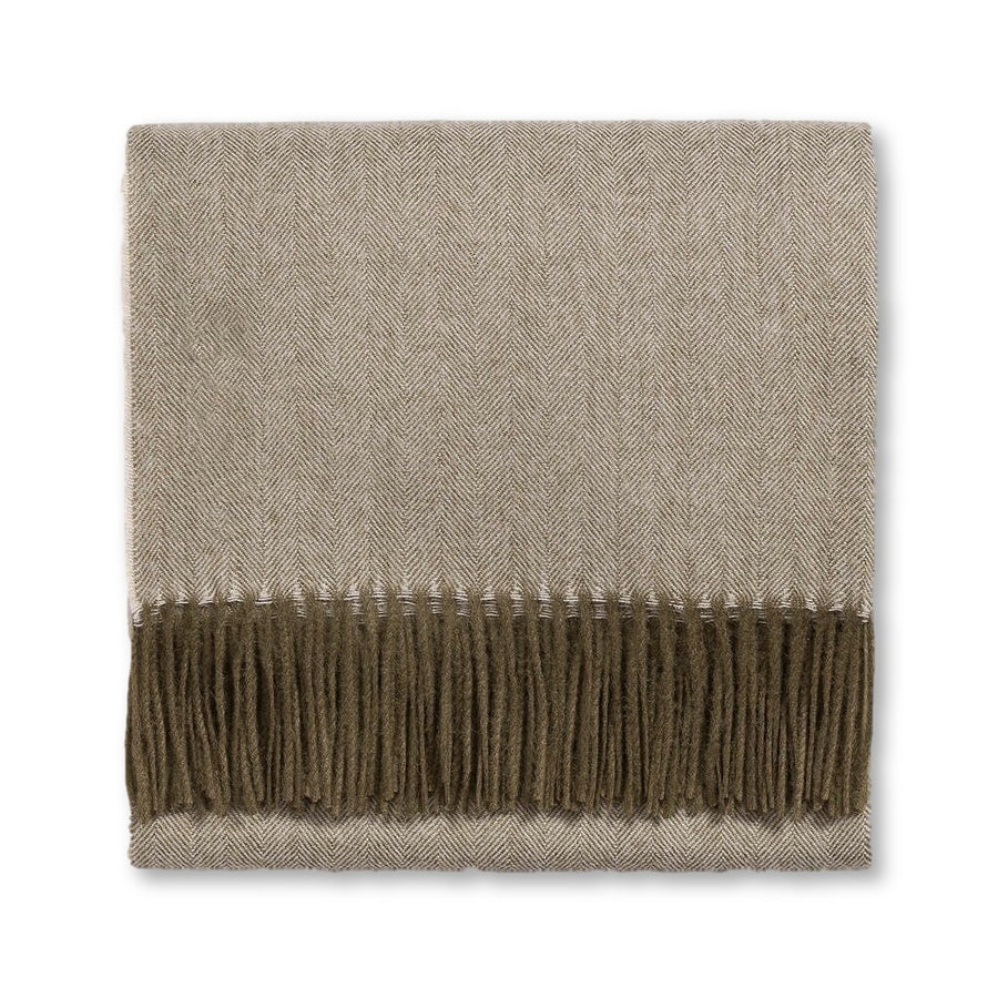 ALPACA HERRINGBONE THROW - TABBY HOME