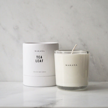MAKANA TEA LEAF CANDLE - TABBY HOME