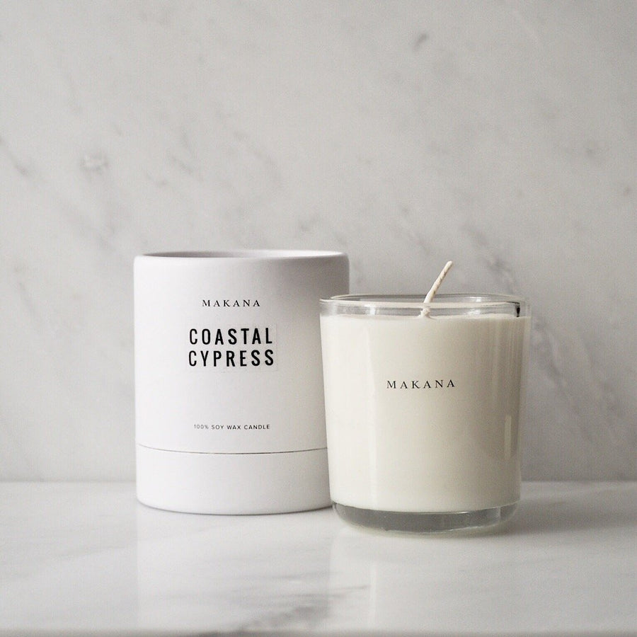 MAKANA COASTAL CYPRESS CANDLE - TABBY HOME