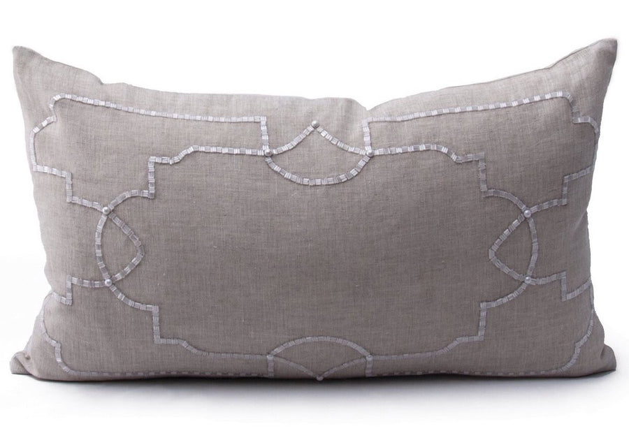 GARDEN SQUARE LINEN PILLOW - TABBY HOME