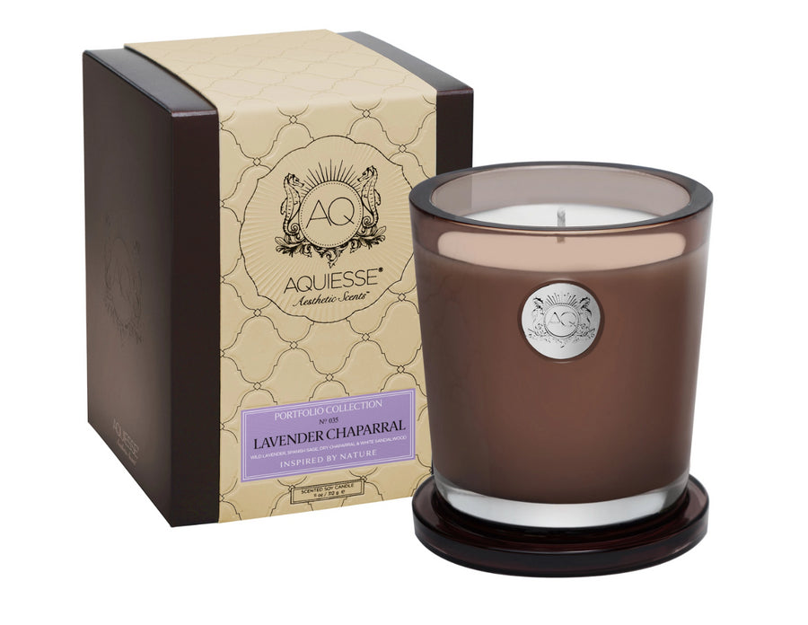 AQUIESSE SOY CANDLE GIFT BOX | LAVENDER CHAPARRAL - TABBY HOME