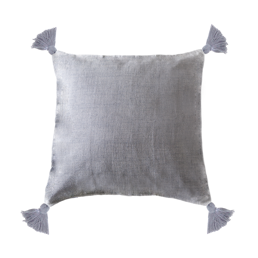 MONTAUK PILLOW WITH TASSEL - TABBY HOME