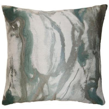AQUA MARBLE PILLOW - TABBY HOME