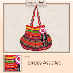 P02a- Paola Stripe Purse