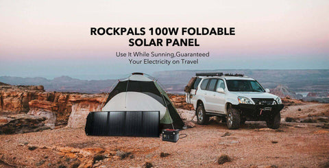 Image of Rockpals 500W/520WH Power Station + 100W Solar Panel Combo