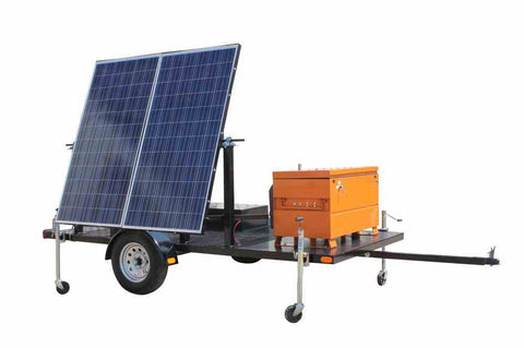 Image of 580 Watt Solar Powered Generator - 10' Trailer - (2) 290 Watt Panels - Completely Solar No Fuel Need