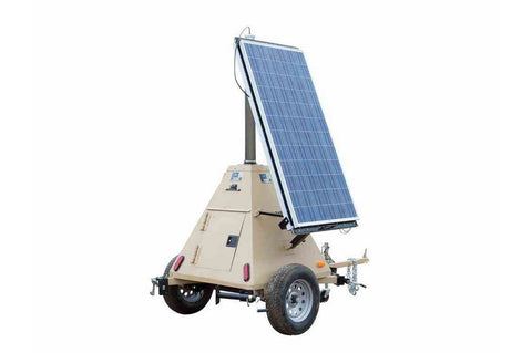 580 Watt Solar Power Generator - Pyramid Trailer - (2) 290 Watt Panels - Completely Solar No Fuel