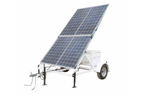 1.06KW Portable Solar Power Generator - 10' Trailer - 24V 800aH Battery Bank - (1) Junction Box