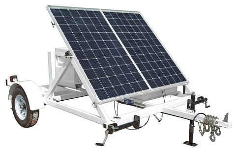 Image of 0.53KW Portable Solar Power Generator - 10' Trailer - 24V 500aH Battery Bank - (1) Job Box