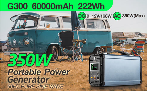 FlashFish 300W Solar Generator 60000mAh Portable Power Station