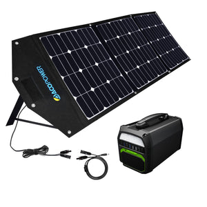 ACOPOWER 500W Generator and 120W Portable Solar Panel