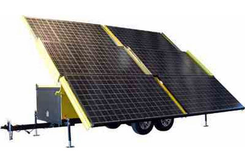 Solar Powered Generator - 18 Kilowatts Max Output - 120/240 Volts AC 3 Phase - On 30' Trailer