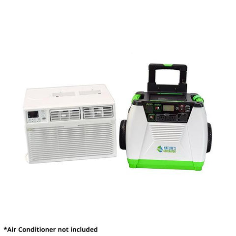 Nature's Generator Complete Solar Generator System for Wall Air Conditioners