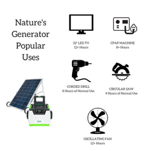Load image into Gallery viewer, Nature's Generator Gold-PE System - Solar Power Generator - GXNGAU - Full Solar Power System - Solar Generator