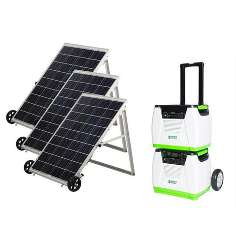 Image of Nature's Generator - PLATINUM System - Solar Powered Generator - Full Solar Power System - Solar Generator