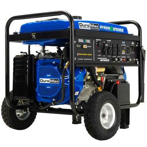 DuroMax XP8500EH 8500-Watt Electric Start Dual Fuel Hybrid Portable Generator