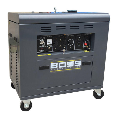 Boss Portable Diesel Generator 8800 -DY8500LN-D - 2 -Speed 12 HP