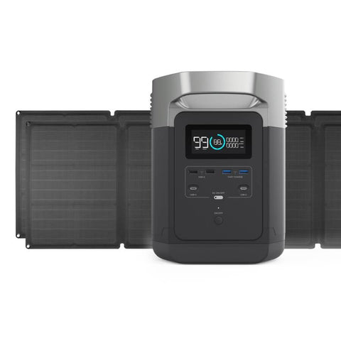 Image of EcoFlow DELTA 1300 X2 1800 Watt Solar Generator Two Unit Package