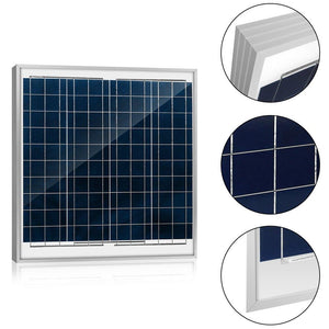 ACOPOWER 60 Watts Poly Solar Panel, 12V