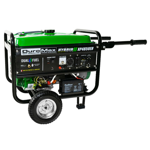 Image of DuroMax XP4850EH 4850 watt Dual Fuel Hybrid generator w/ Electric Start