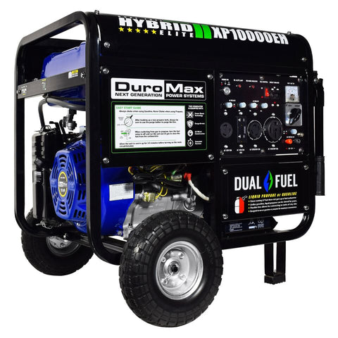 Image of DuroMax XP10000EH 10000-Watt Electric Start Dual Fuel Hybrid Portable Generator