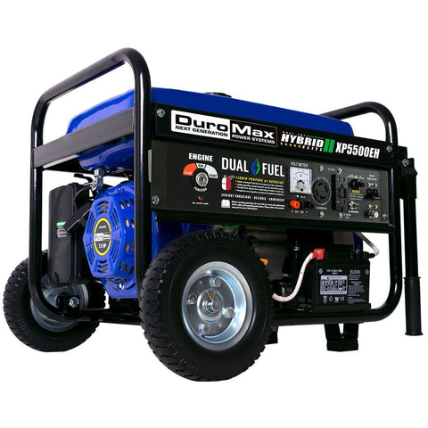 Image of DuroMax XP5500E 5500-Watt 7.5-Hp 36.6-Amp Portable Electric Start Gas Powered Generator