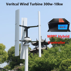 600 Watt Wind Turbine - Silent Vertical Wind Turbine 12v, 24v or 48v