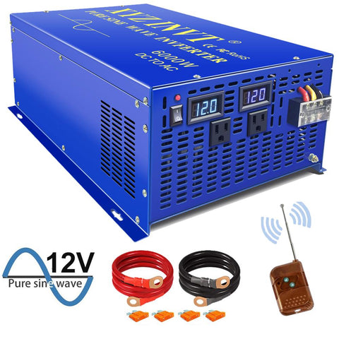 Image of XYZ INVT 6000 watt Power Converter Pure Sine Wave Inverter 12v 24v 36v 48v dc to ac 110v 120v 220v 230v 240V with Remote Switch