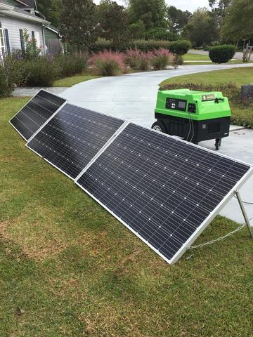 Image of Solar Panels (SET OF 3) with legs (Clean Green solar Machine Not included)