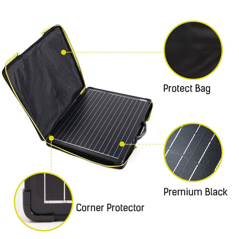Image of 100W Light Weight Foldable Solar Panel Kit, Waterproof ProteusX 20A LCD Charge Controller (New Launched)