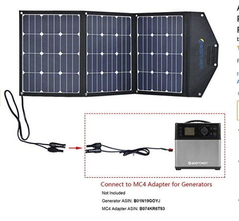 Image of ACOPOWER 105W Foldable Solar Suitcase with 10A Charge Controller