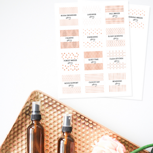 Printable Essential Oil Labels- Room Spray Collection