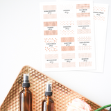 Essential Oil Room Spray Recipe Labels
