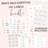 Printable Essential Oil Label Bundle Cover
