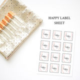 Printable Essential Oil Label Bundle Happy