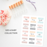 Printable Essential Oil Label Bundle Kids and Baby