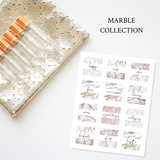 Printable Essential Oil Label Bundle Marble Collection
