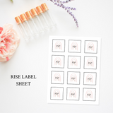 Printable Essential Oil Label Bundle Rise