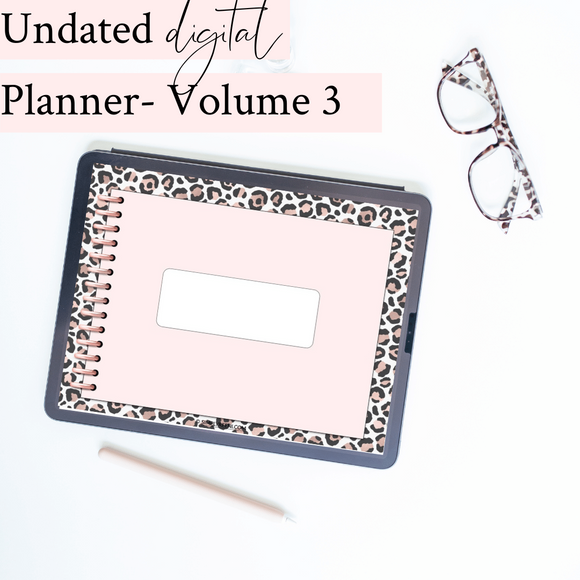 Undated Digital Planner | Volume 3