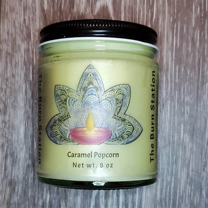 Caramel Popcorn Soy Candle - The Burn Station