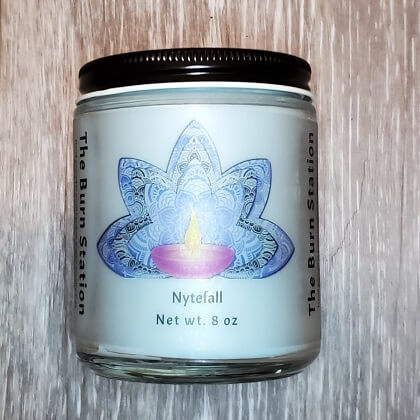 Nytefall Soy Candle 8 oz - The Burn Station
