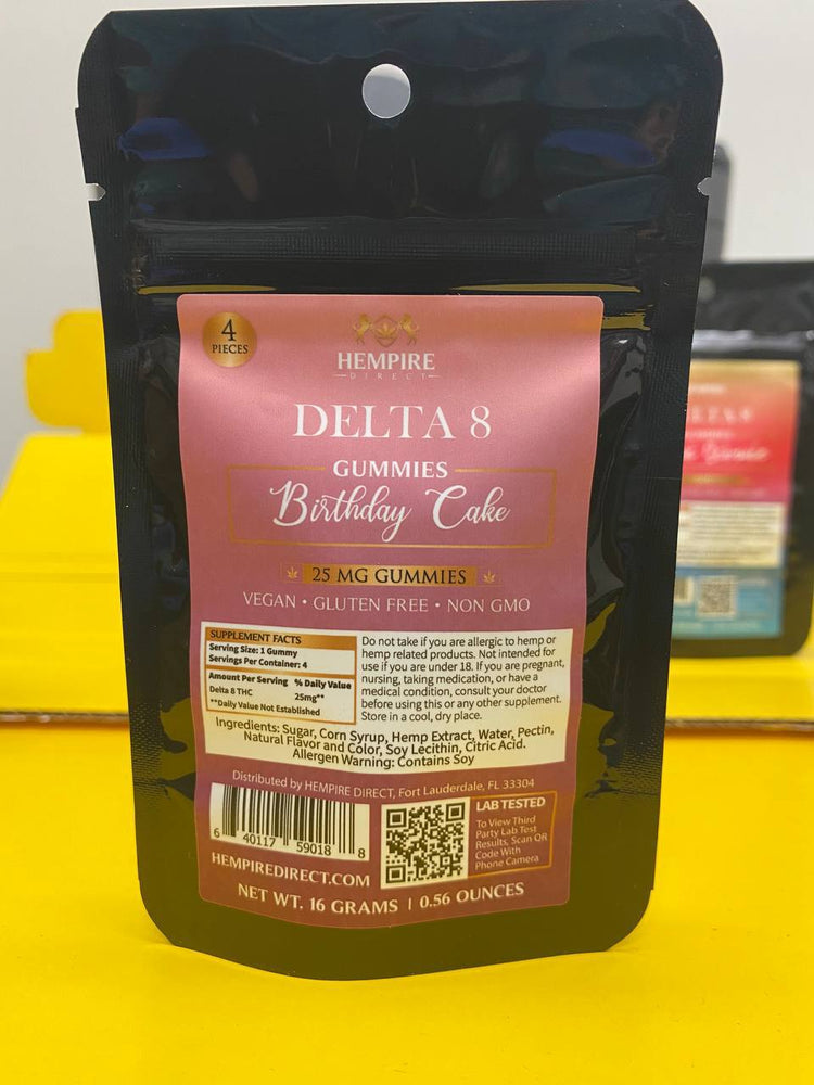 "Delta 8 Gummy 4 Pack Sample  <span class=""1"">(DISCOUNT WILL BE CALCULATED AT CHECKOUT)</span>"