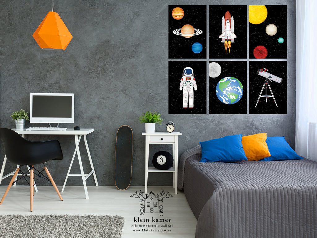 6 Set | Astronaut | Planets | Space